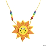 Craft Kits to Go: Smile Face Sun Necklace!