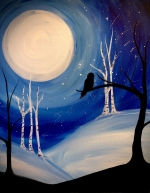 Paint with Chelsea—Owl Moon, a virtual program for Ages 15 +
