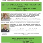 COA: Presentation on Better Balance and Fall Prevention