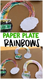 Take and Make TOGETHER - Paper Plate Rainbows