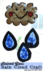 Take and Make TOGETHER - Stained Glass Rain Cloud Craft