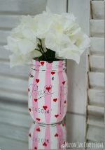 Monthly Adult Craft on Zoom 18+ - Painted Mason Jar Vase