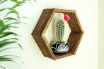 Monthly Adult Craft Tutorial on Demand - DIY Hexagon Popsicle Stick Shelf
