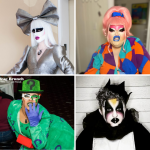 Four performers in different drag