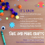 Take and Make : Crafts for Kids At Your Own Pace