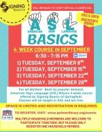 American Sign Language (ASL) Basics 4 Week Course