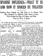 Lowell and the Flu Pandemic of 1918