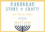 Hanukkah story & craft!