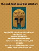 ONLINE EVENT: The Adult Book Club discusses The Song of Achilles, by Madeline Miller.