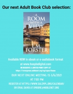 ONLINE EVENT: The Adult Book Club discusses A Room With A View, by E.M. Forster.