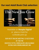 ONLINE EVENT: The Adult Book Club discusses The New Jim Crow by Michelle Alexander
