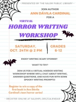 ONLINE EVENT: Virtual Horror Writing Workshop
