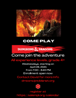 ONLINE EVENT: Dungeons & Dragons