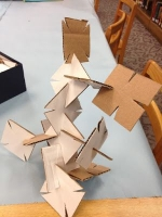STEM drop-in building structures with squares