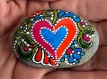 Painting Rock Valentines