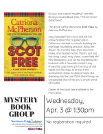 The Armchair Detectives Mystery Book Group: Scot Free