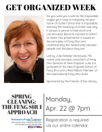 GET ORGANIZED WEEK: Spring Cleaning -- The Feng Shui Approach