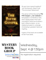The Armchair Detectives Mystery Book Group: The Fifth Gospel