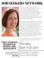 TEWKSBURY JOB SEEKERS NETWORK: How To Build Resiliency During The Job Search