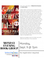 Monday Evening Book Discussion Group: Behold the Dreamers