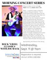 MORNING CONCERT: Rock 'n Roll Classics with Joe Mack