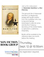 Non-Fiction Book Group: Alexander Hamilton