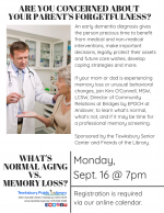 What's Normal Aging vs. Memory Loss: An Important Talk For Adult Children