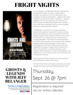 FRIGHT NIGHT: Ghosts & Legends with Jeff Belanger