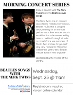 MORNING CONCERT: Beatles Songs with The Nerk Twins
