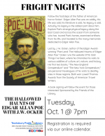 FRIGHT NIGHT: The Hallowed Haunts of Edgar Allan Poe with J.W. Ocker