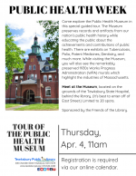 PUBLIC HEALTH WEEK: Tour Of The Public Health Museum
