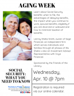 AGING WEEK: Social Security -- What You Need To Know