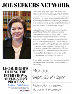 TEWKSBURY JOB SEEKERS NETWORK: Legal Rights During The Interview & Application Process
