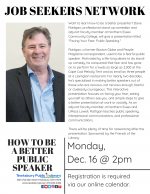 TEWKSBURY JOB SEEKERS NETWORK: Learn How To Be A Better Public Speaker (from a Stand-Up Comedian)