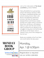 Monday Evening Book Discussion Group--The Good Lord Bird