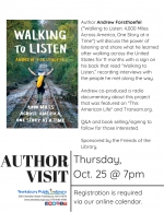 Author Visit: Lessons From A 4,000-Mile Walk Across America