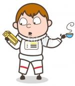 astronaut drinking tea