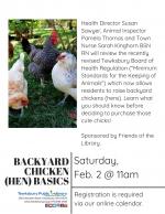 Backyard Chicken (Hen) Basics In Tewksbury