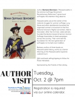 Author Visit: Massachusetts Leaders in the Woman Suffrage Movement