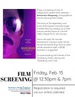 Film Screening:  Bohemian Rhapsody
