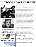 OUTDOOR CONCERT SERIES: Counterfeit Cash -- A Johnny Cash Tribute Band