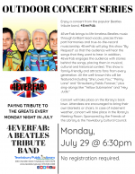 OUTDOOR CONCERT SERIES: 4EverFab -- A Beatles Tribute Band