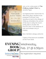 Evening Book Group Meeting: The Chilbury Ladies' Choir