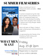 Film Screening: What Men Want