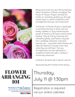Flower Arranging 101 with The Power Of Flowers Project