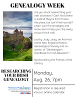 GENEALOGY WEEK: Researching Your Irish Genealogy