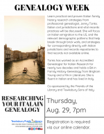 GENEALOGY WEEK: Researching Your Italian Genealogy