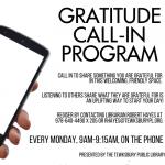 **NEW** Gratitude Call In Program