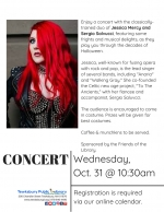 Morning Concert: A Halloween Concert For Adults with Jessica Mercy