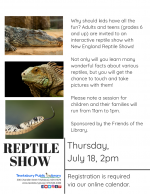 Reptile Show: Grades 6 through Adults